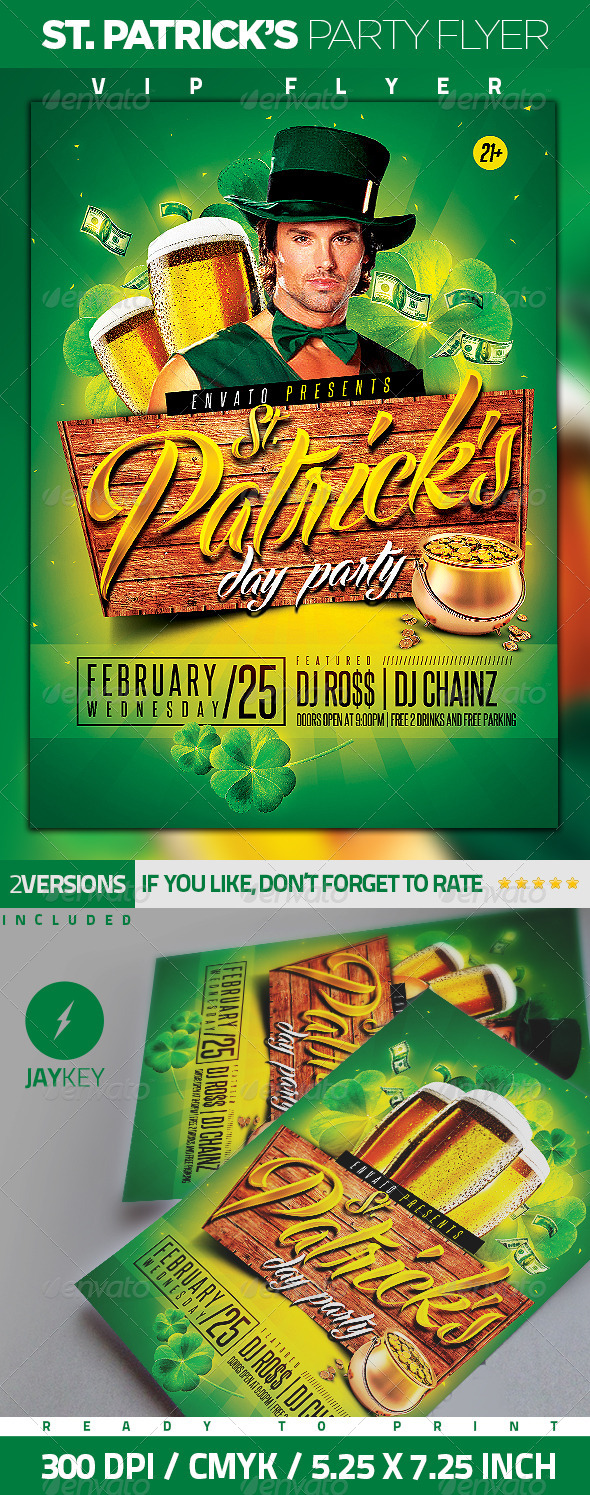 St. Patrick's Party Flyer - Clubs & Parties Events