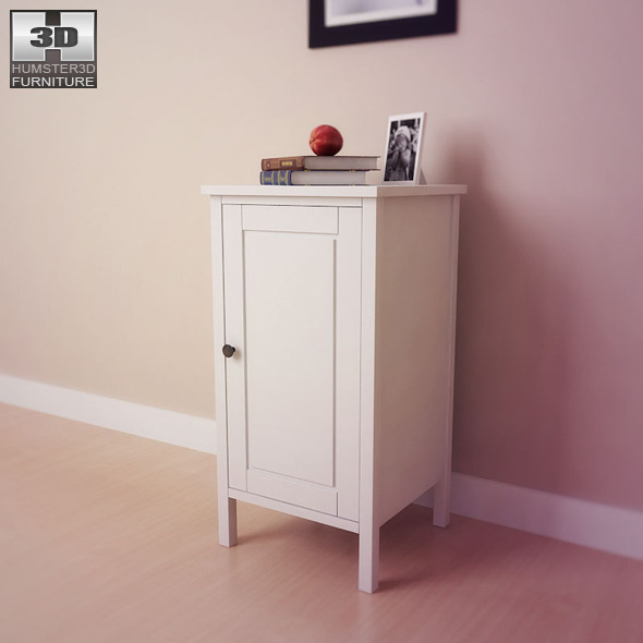 outlet store 2df14 d6b23 IKEA HEMNES Bedside table 2 - 3D Model.