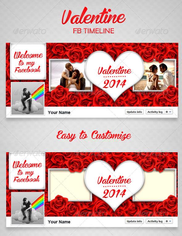 Valentine FB Timeline V2 - Facebook Timeline Covers Social Media