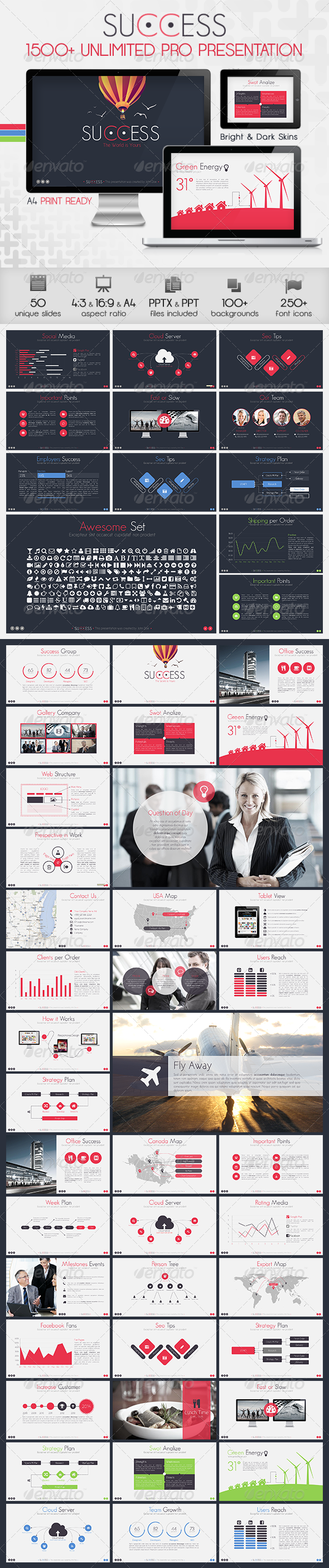 Success Powerpoint Presentation Template - Business PowerPoint Templates