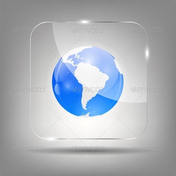 Globe Icon Vector Illustration - Web Technology