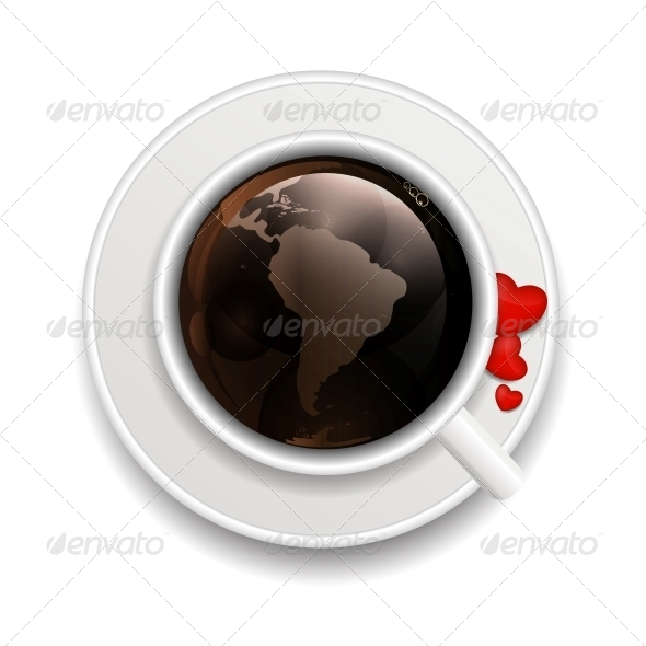 Coffee Invitation Background Vector Illustration - Web Technology