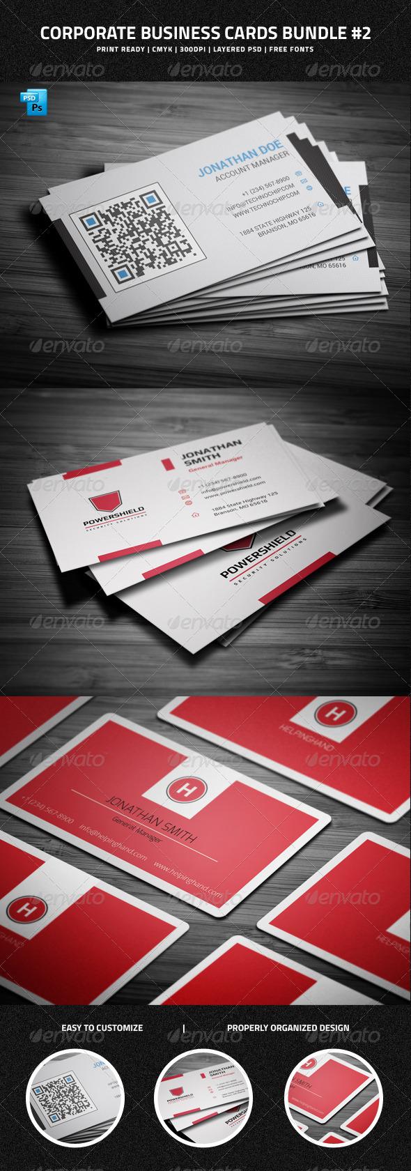 Corporate Business Cards Bundle #2 - Corporate Business Cards