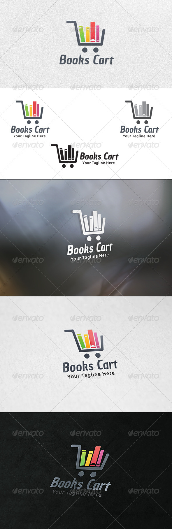 Books Cart - Logo Template - Objects Logo Templates