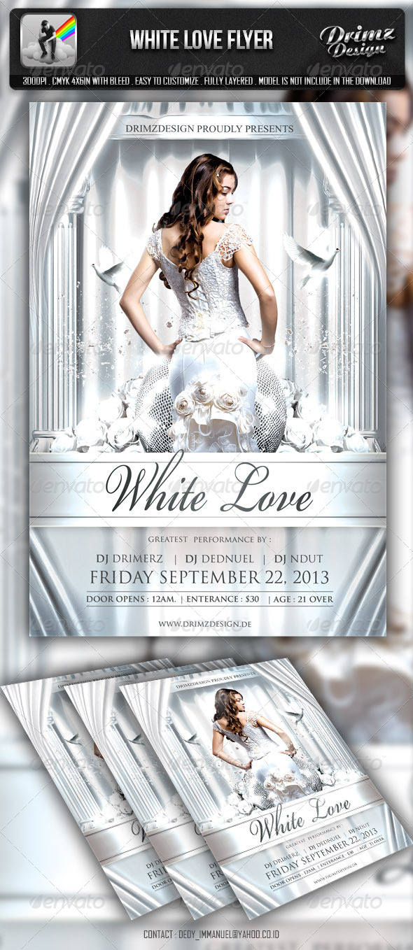 White Love Flyer - Events Flyers