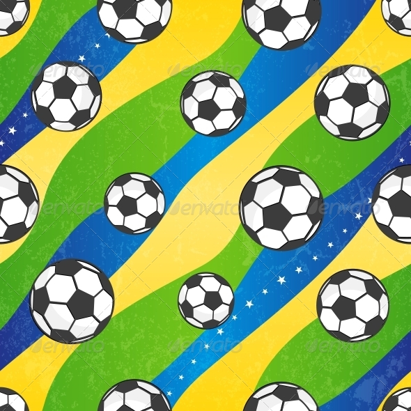 Seamless Football Pattern - Sports/Activity Conceptual