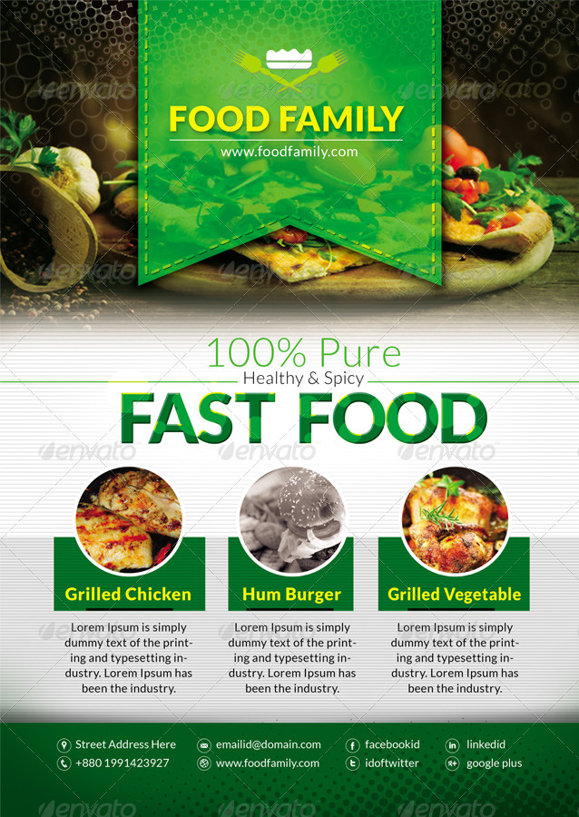 Fast Food Flyers by ContestDesign | GraphicRiver