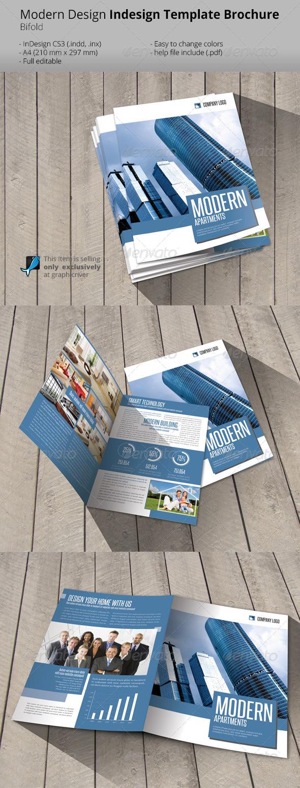 Modern Construction Bifold Brochure Template - Informational Brochures