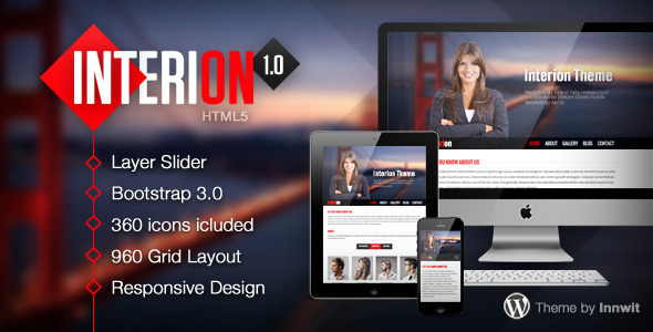 Interion – Responsive One Page HTML Template