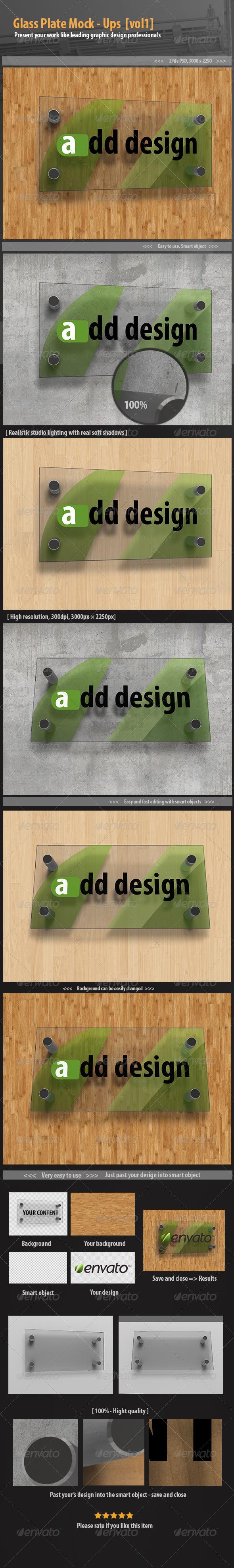 Glass plate mockups [vol1] - Signage Print