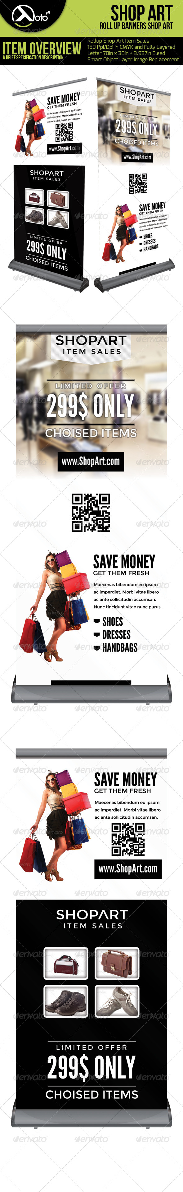 Shop Art Roll Up Banners - Signage Print Templates