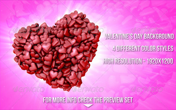 Valentine's Day Hearts Backgrounds - Miscellaneous Backgrounds