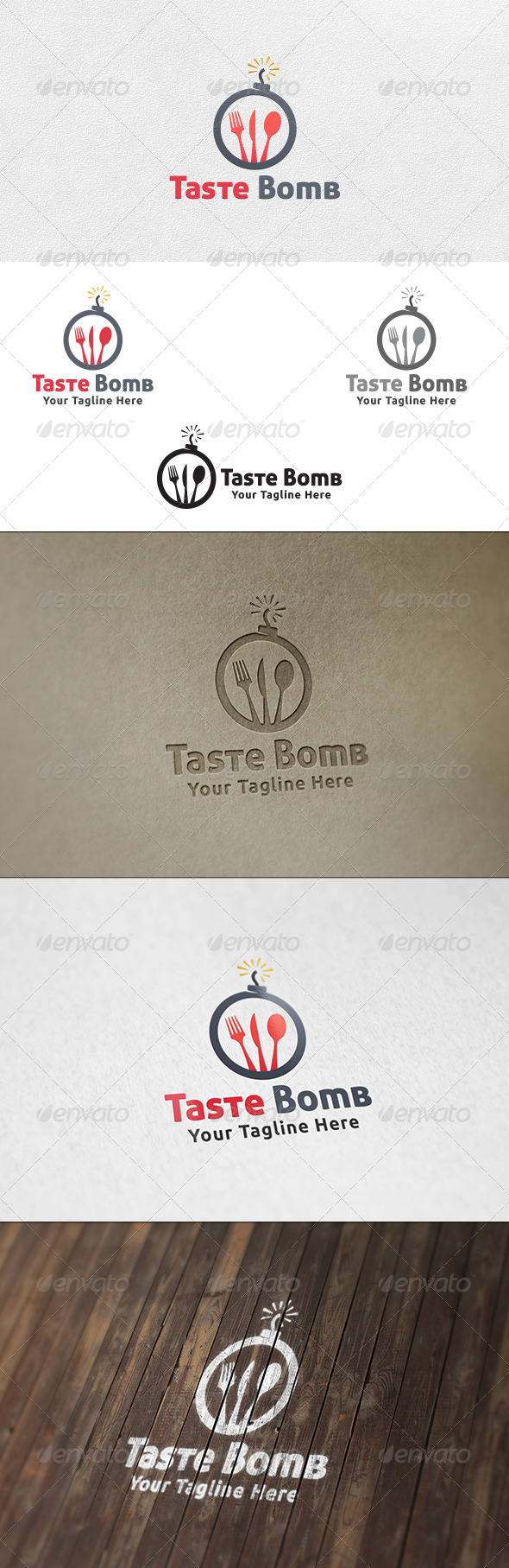 Taste Bomb - Logo Template - Food Logo Templates