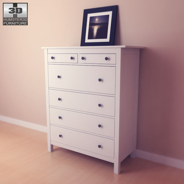 Ikea Hemnes Chest Of 6 Drawers 3d Model By Humster3d 3docean