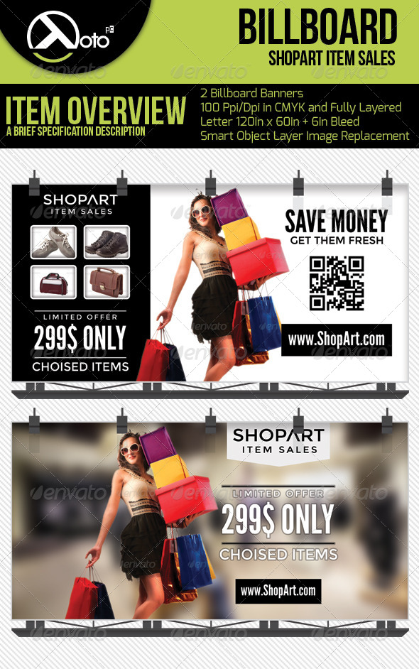ShopArt Item Sales Billboard Banners - Signage Print Templates