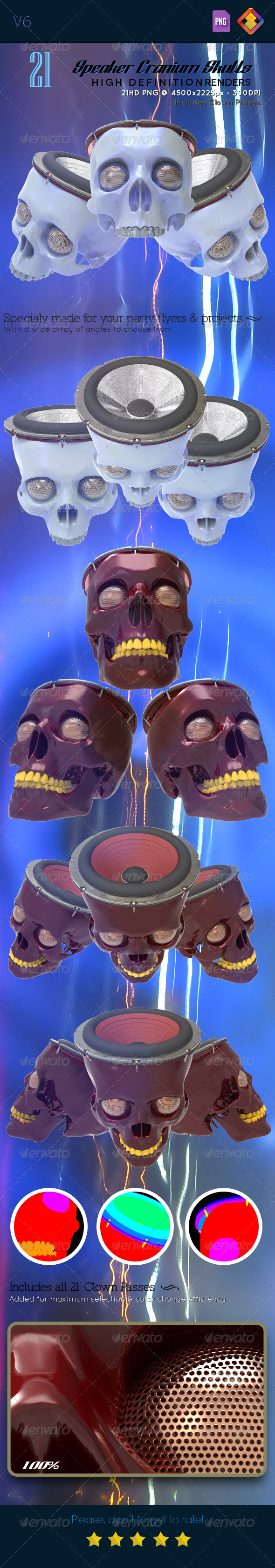 Speaker Cranium Skull V6 - Technology 3D Renders