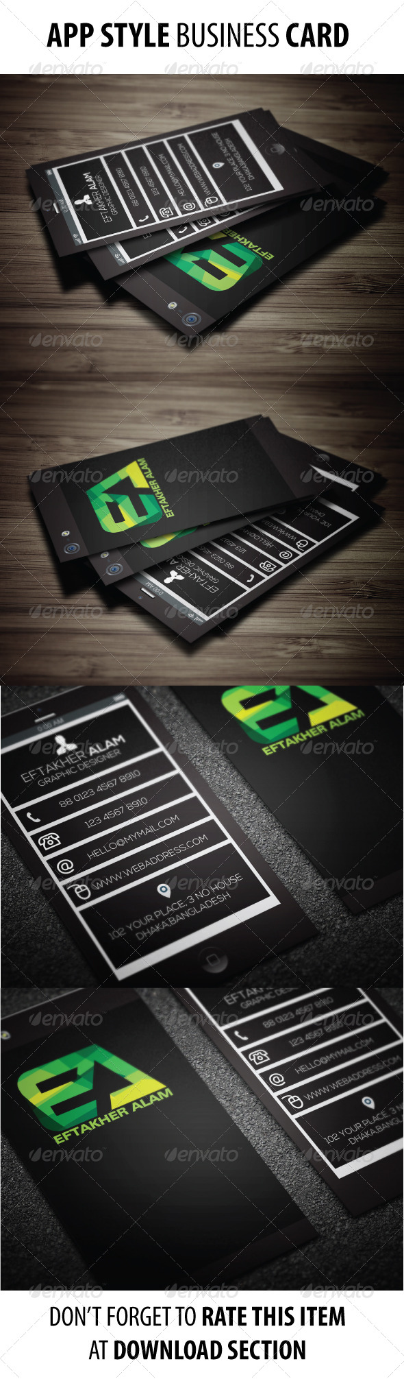App Style Business Card Vol 002 - Creative Business Cards