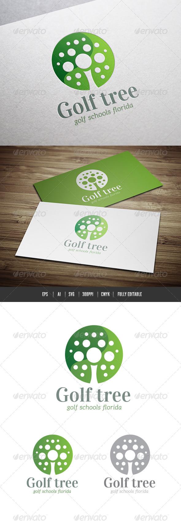 Golf Tree - Nature Logo Templates