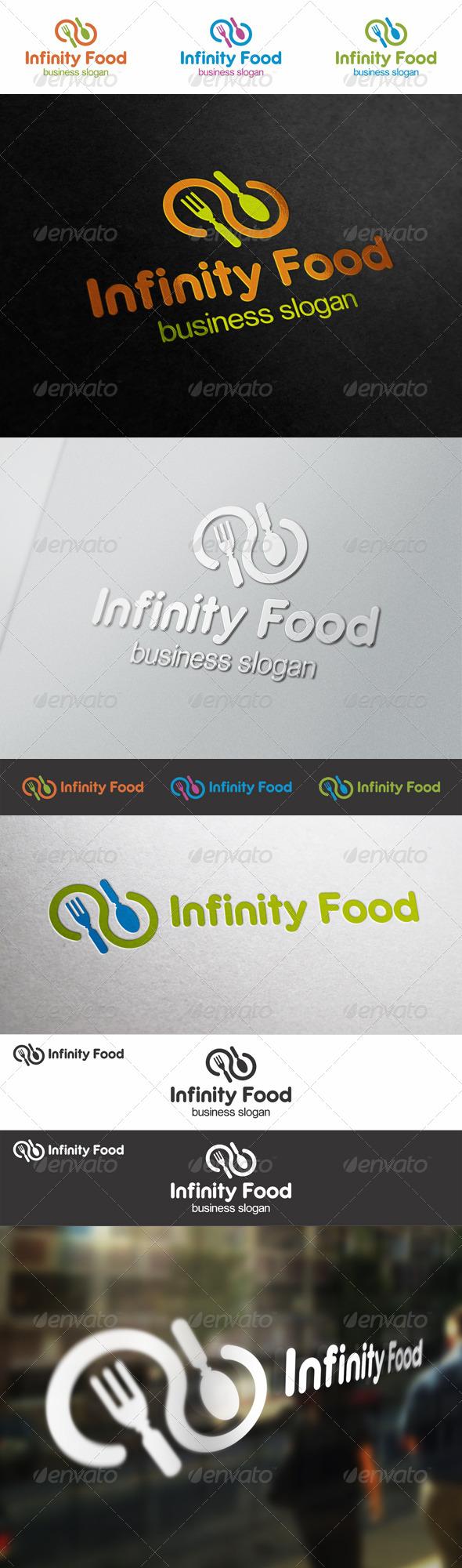 Infinity Food Restaurant Logo