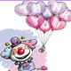 Happy Clown - Thank You Heart Balloons - GraphicRiver Item for Sale