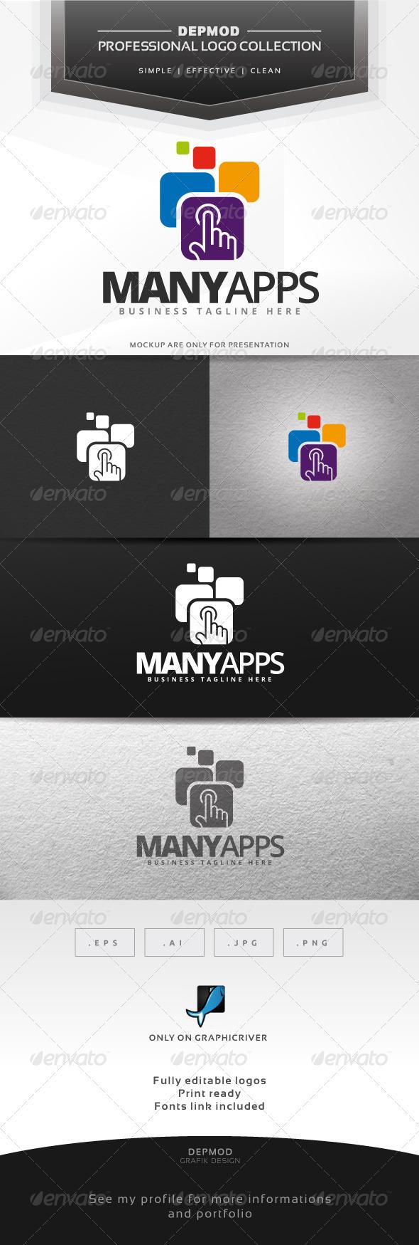 Many Apps Logo - Symbols Logo Templates