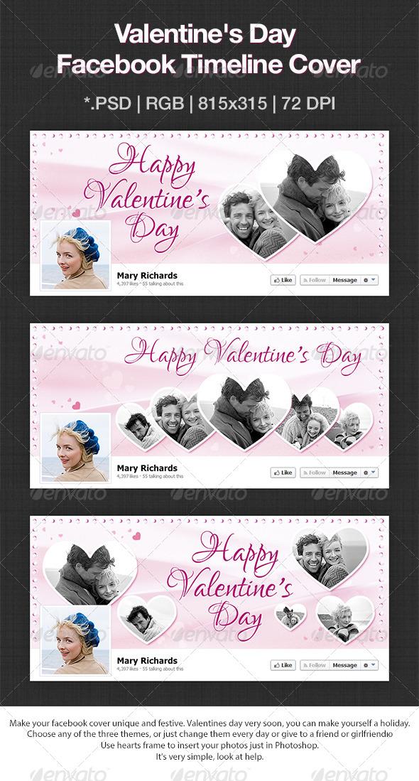 Happy Valentine Day Facebook Cover - Facebook Timeline Covers Social Media