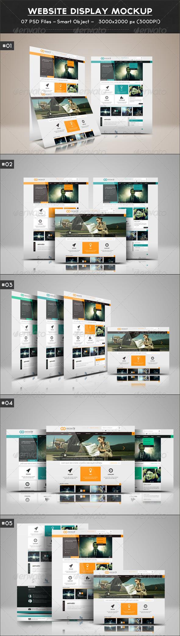 Website Display Mockup - Website Displays