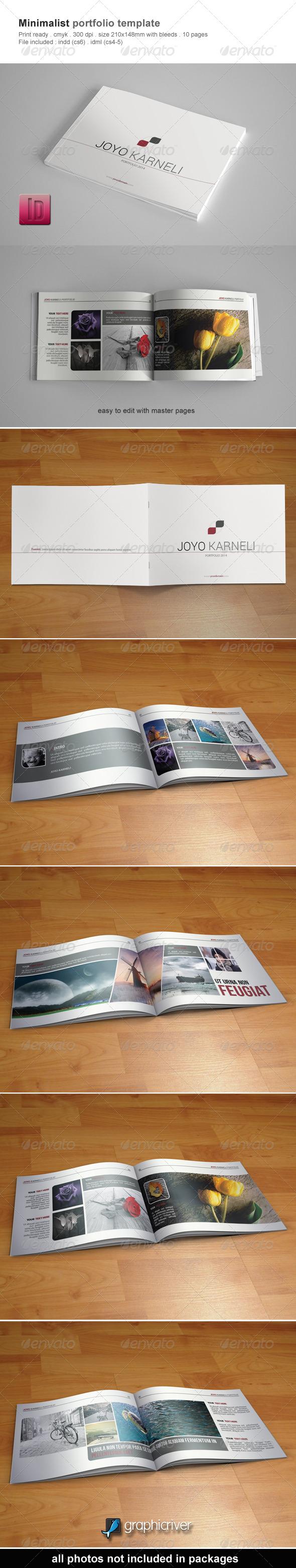 Minimalist Portfolio Template - Portfolio Brochures