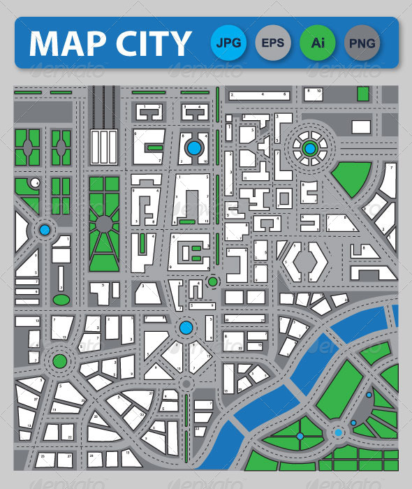 City Map - Backgrounds Business