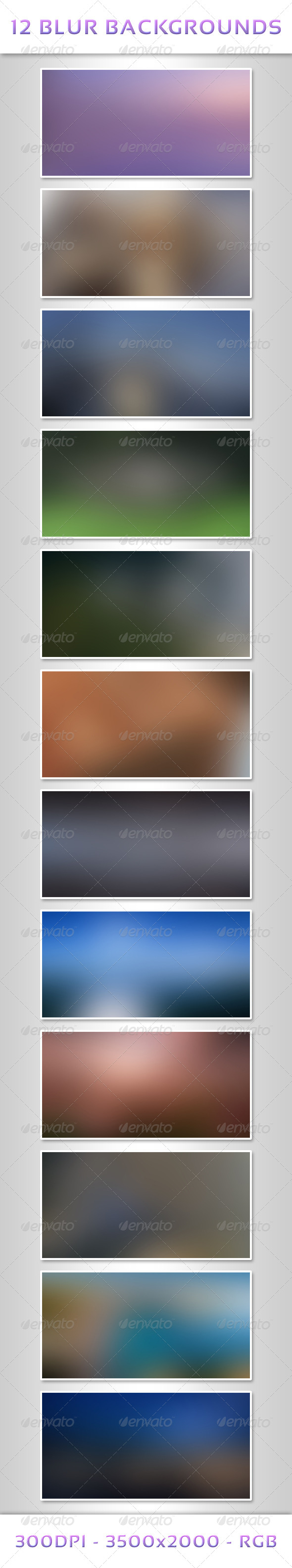 12 Blur Backgrounds - Abstract Backgrounds