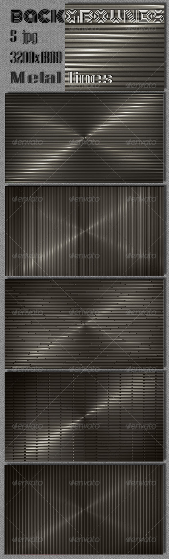 Web Dark Metal Lines Backgrounds - 3D Backgrounds