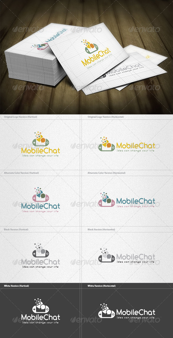 Mobile Chatroom  Logo - Symbols Logo Templates