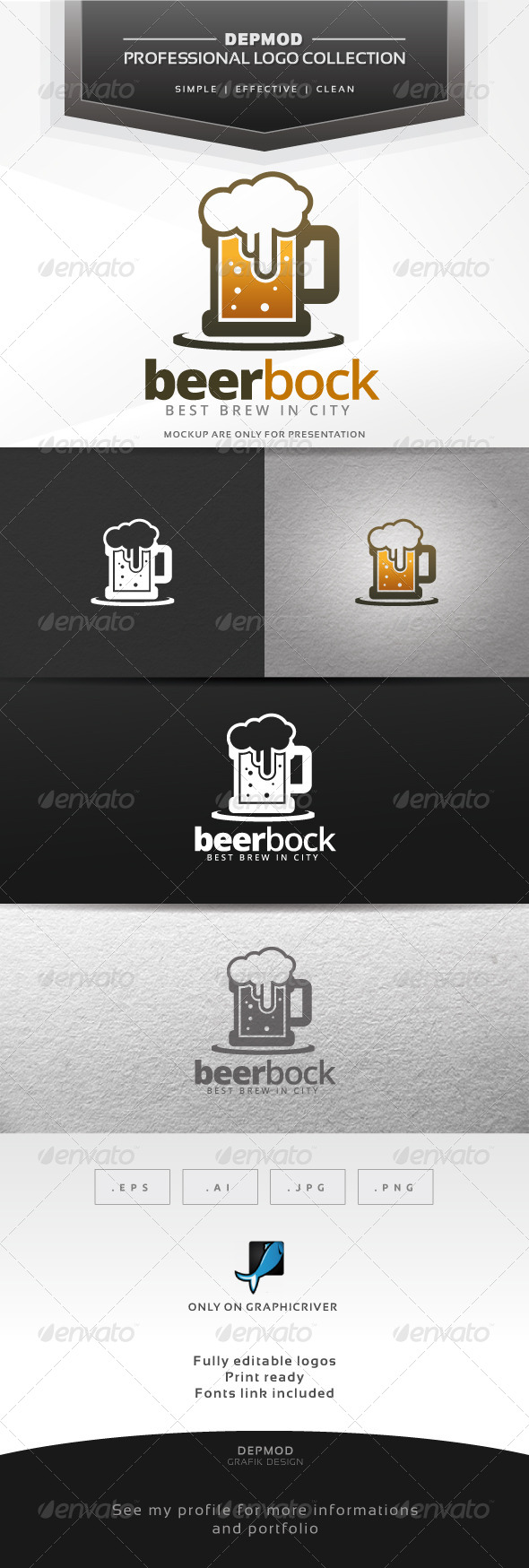 Beer Bock Logo - Food Logo Templates