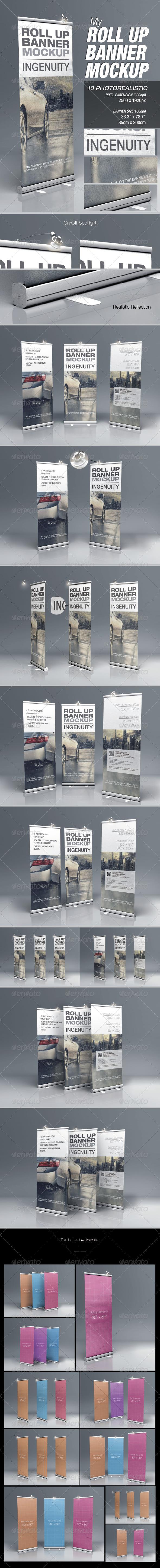 MyRoll Up Banner Mock-up - Signage Print