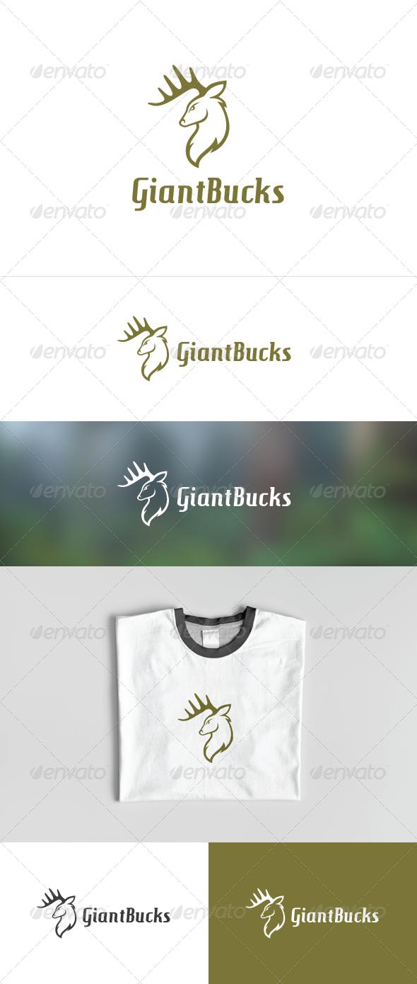 Giant Bucks - Animals Logo Templates