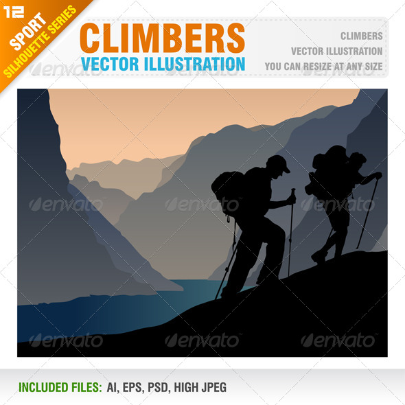 Climbers - Sports/Activity Conceptual