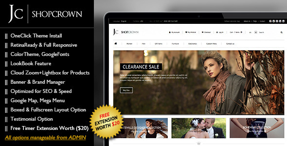 Shopcrown - Responsive & Retina Ready Magento  - Magento eCommerce
