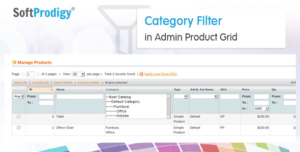 Category Filter in Admin Product Grid - CodeCanyon Item for Sale