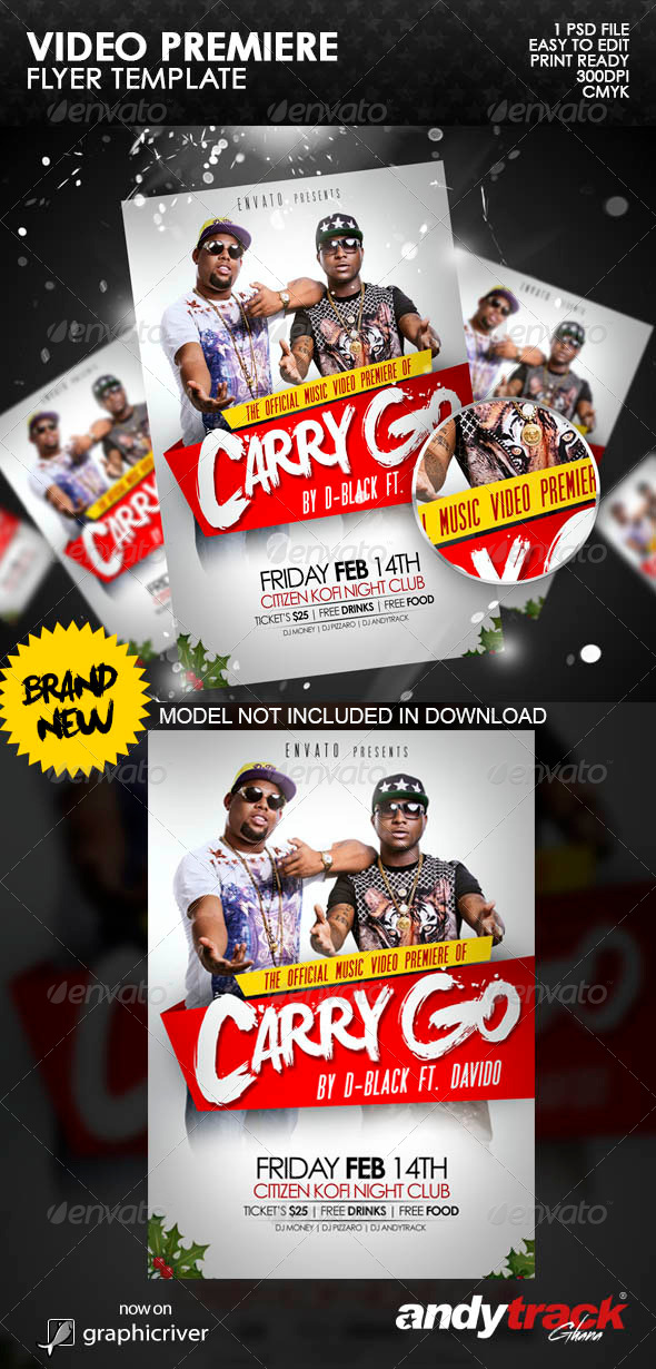 Video Premiere Flyer Template - Events Flyers