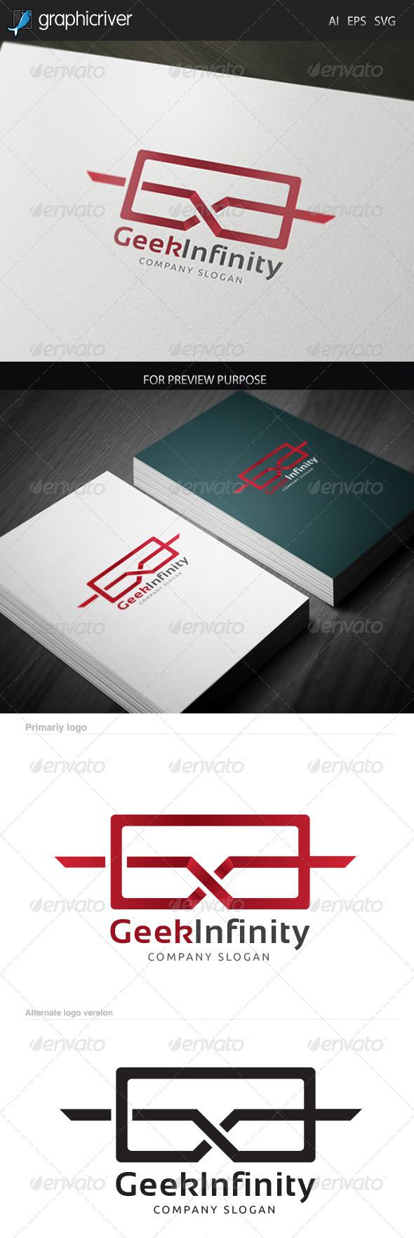 Geek Infinity Logo - Letters Logo Templates