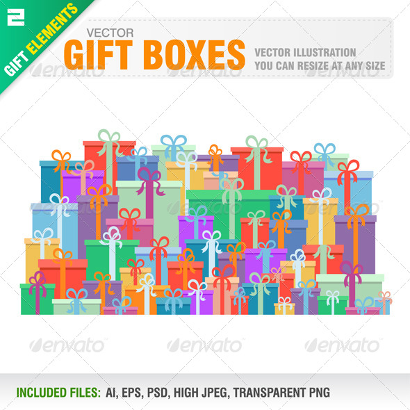 Gift Boxes - Man-made Objects Objects