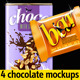 4 Chocolate Bar Packaging Mockups - GraphicRiver Item for Sale
