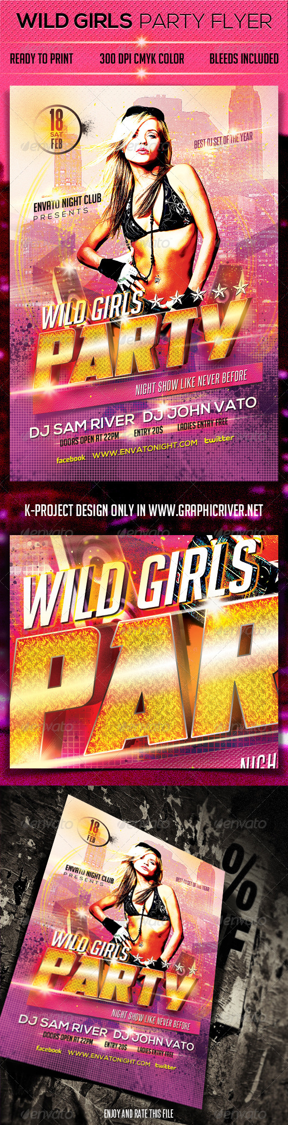 Wild Girls Party Flyer - Clubs & Parties Events