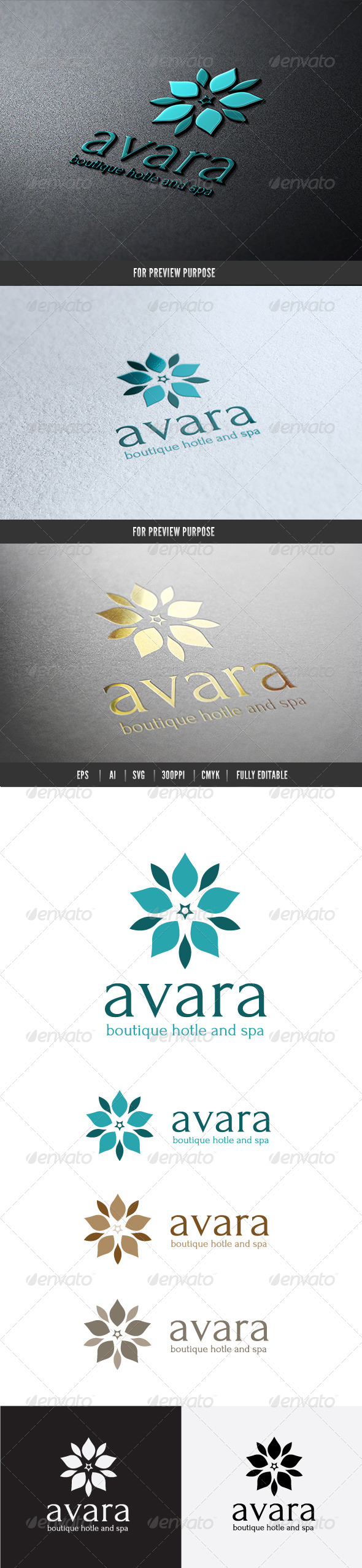 Boutique Hotel Logo - Crests Logo Templates