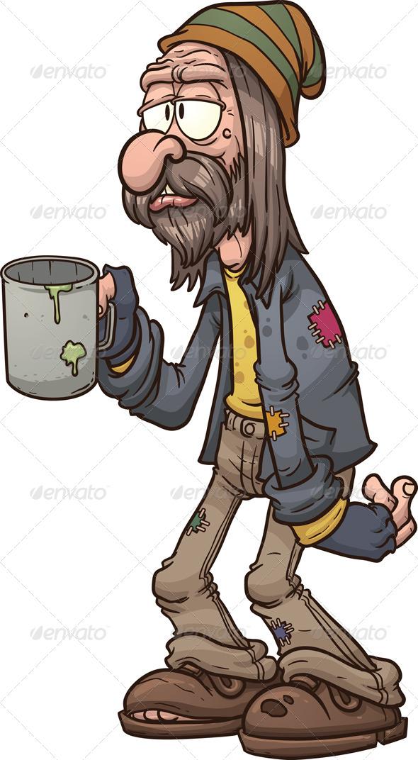 Cartoon Beggar - People Characters