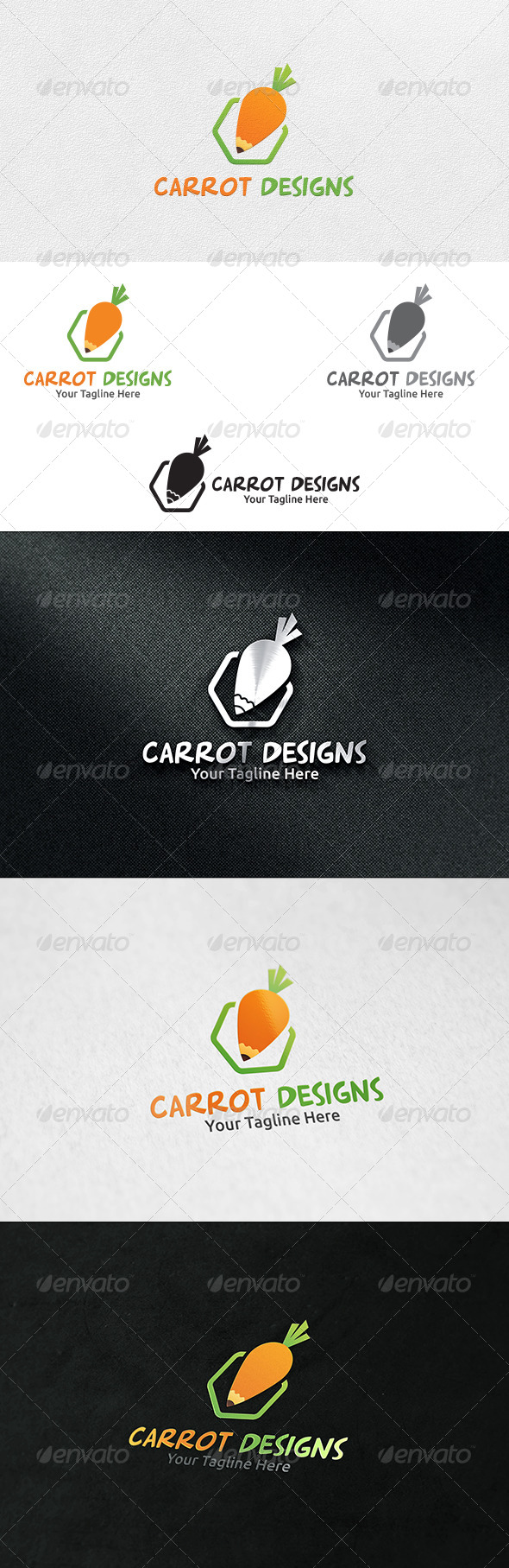 Carrot Designs - Logo Template - Nature Logo Templates