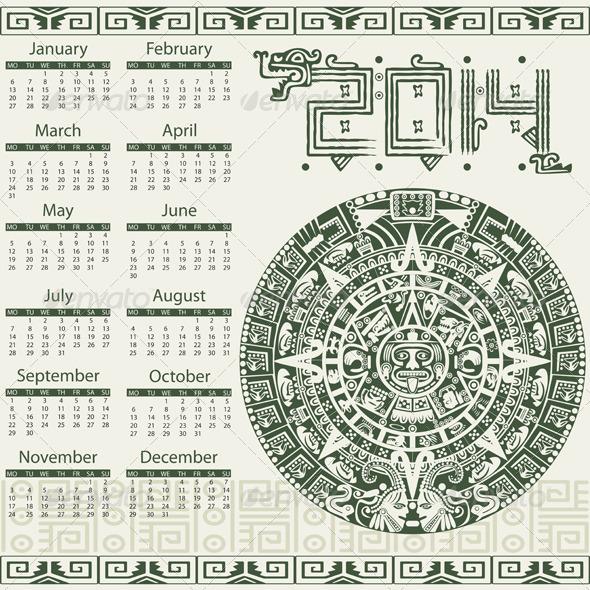 Mayan Calendar 2014 - Travel Conceptual