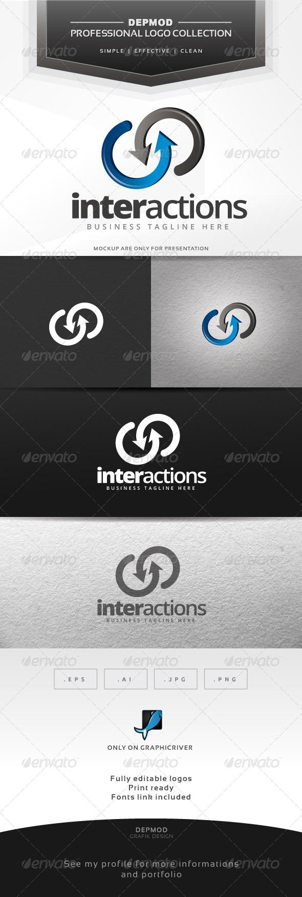 Interactions Logo - Abstract Logo Templates