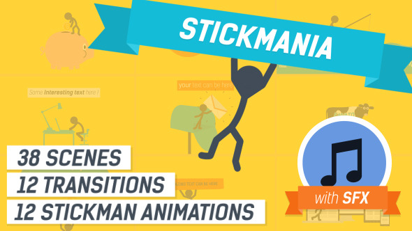 Explainer Video Stickmania By YaroFlasher VideoHive - Explainer video templates