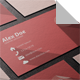 Flat Business Card with Letter A - GraphicRiver Item for Sale